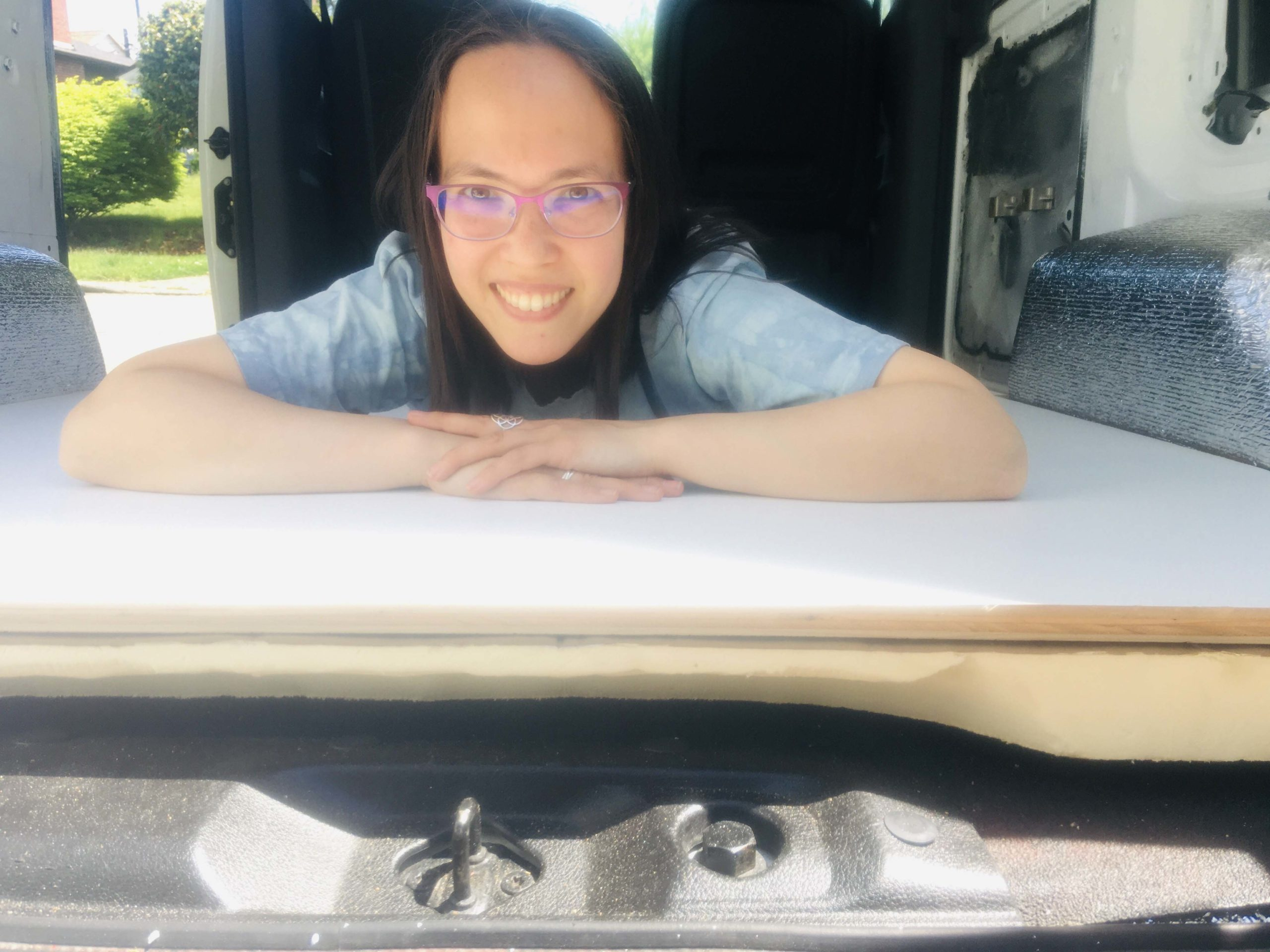 #VanLife Build Out Day 5: Floor Completed